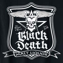 Black Death Malt Liquor - Dr Johnny Fever T-Shirt - WKRP in Cincinnati