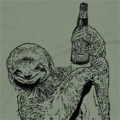 Beer Drinking Sloth party t-shirt cute sloth shirt gift for sloth lovers