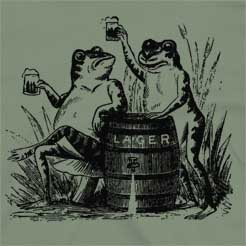 Beer Drinking Frogs funny beer t-shirt