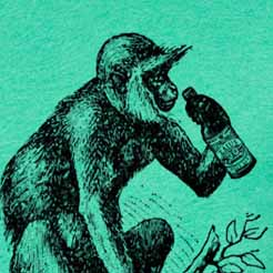 Beer Drinking Monkey T-Shirt