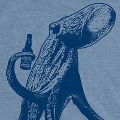 Beer Drinking Octopus Graphic Tee Cthulhu Tentacles T-Shirt