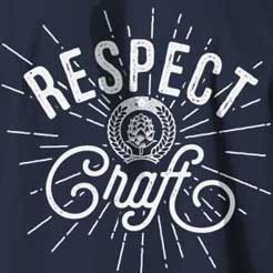 Respect Craft beer graphic t-shirts from BrewerShirts