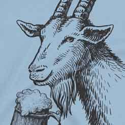 Beer Drinking Goat - Bock Dopplebock Oktoberfest T-Shirt