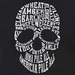 Zoinks!  Scooby! This cool skull typography design spells out the all of the varieties of delicious craft beer.