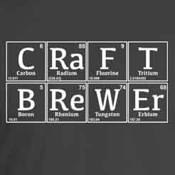 Craft Brewer spelled out using chemical symbols from the periodic table of elements.