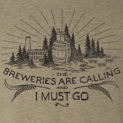 The Breweries are Calling and I Must Go - Beer Barrel Illustration Graphic Tee