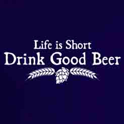 Life is Short Drink Good Beer classic brand logo