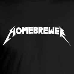 Brewtallica Heavy Metal Home Brewer Craft Beer Brewing Typography Logo Parody T-Shirt
