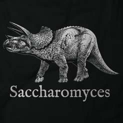 Saccharomyces Beer Brewing Dinosaur Graphic Tee