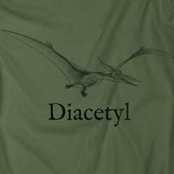 Diacetyl beer brewing fermentation dinosaur troll quote t-shirt