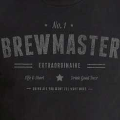 No. 1 Brewmaster Extraordinaire - Beer Brewing Brewer Brewery Gift T-Shirt