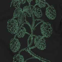 Hops on vine illustration graphic tee pattern print beer brewing fashion