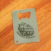 Humulus Lupulus Stainless Steel Credit Card Bottle Opener