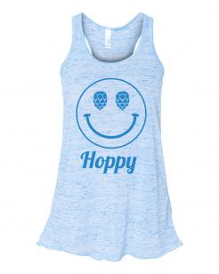 Hoppy Face Womens Flowy Tank