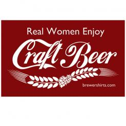 Real Women Enjoy Craft Beer Sticker