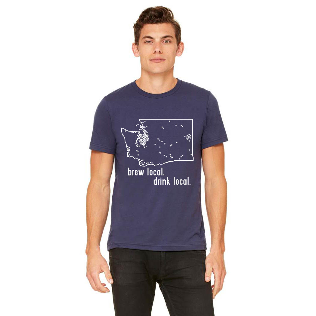 Washington Craft Brewery Map T-Shirt