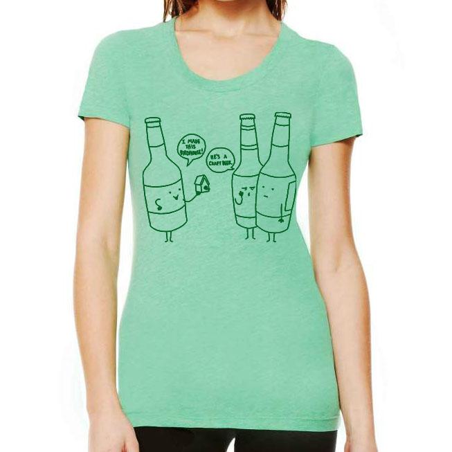 crafty beer womenu0027s triblend graphic tee u203a