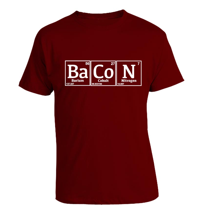 Periodic bacon t shirt bacon periodic table t shirt urtaz Images