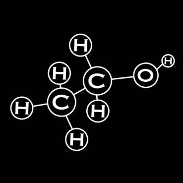 Alcohol Molecule Tee