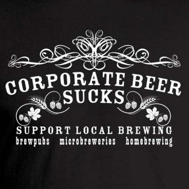 Corporate Beer Sucks Tee