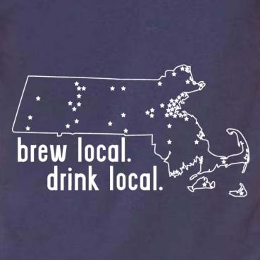 Massachusetts Brew Local Drink Local Tee