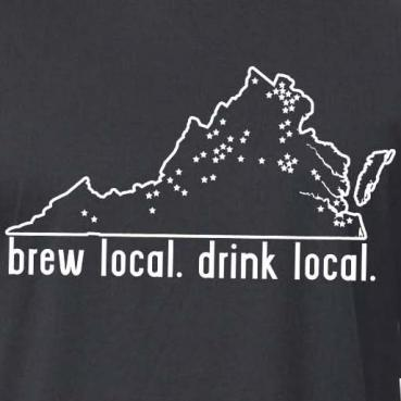 Brew Local Drink Local Virginia Graphic Tee