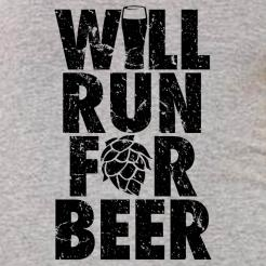 Will Run For Beer Womens Flowy Racerback Tank