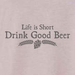 Life is Short Drink Good Beer Womens Flowy Tank