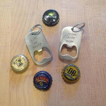 Hand Stamped Stainless Steel Bottle Opener