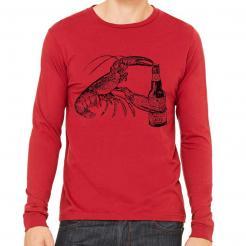 Beer Drinking Lobster Long Sleeve tee