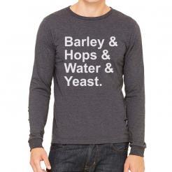 Barley Hops Water and Yeast Long Sleeve T-Shirt