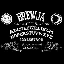 Brewja - Ouija Board Black Graphic Tee