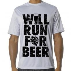 Will Run for Beer Performance Tee
