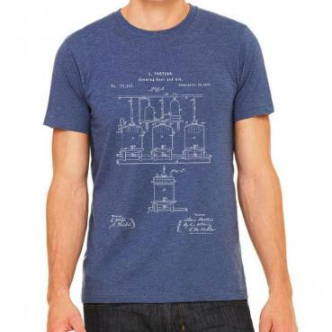 Pasteur Brewing Patent Graphic Tee