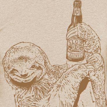 Beer Drinking Sloth Graphic T Shirt Craft Beer Gift