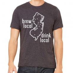 New Jersey Brewery Map Graphic Tee