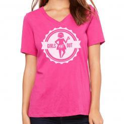 Girls Pint Out Logo V-Neck Tee