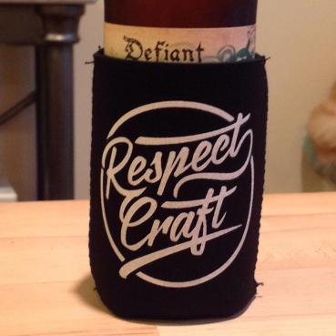 Respect Craft Logo Premium Koozie