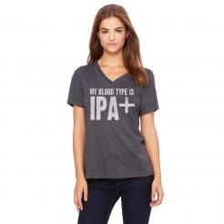 My Blood Type is IPA+ Women's V-Neck Tee