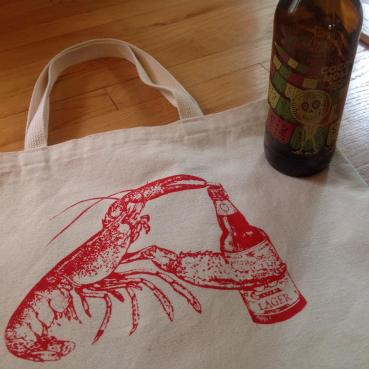 Beer Drinking Lobster Beach Bag