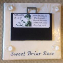 Sweet Briar Rose Ceramic Trivet