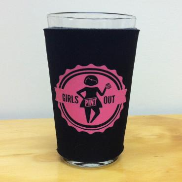 Girls Pint Out Logo Pint Glass Sleeve Koozie