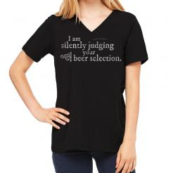 Silently Judging Women's V-Neck Tee