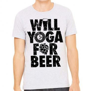 Will Yoga for Beer Athletic Tee