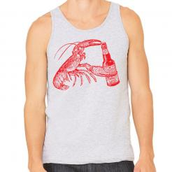 Beer Drinking Lobster Unisex Mens Tank Top