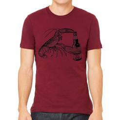 Beer Drinking Lobster T-Shirt