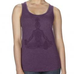 Craft Beer Yoga Chakras Lotus Womens Racerback Tank