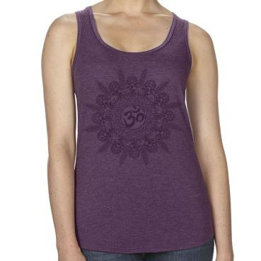 Craft Beer Yoga Mandala Ohm Racerback Tank