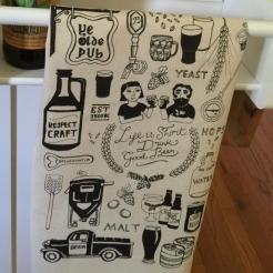 Craft Beer Hipster College Bar Towel