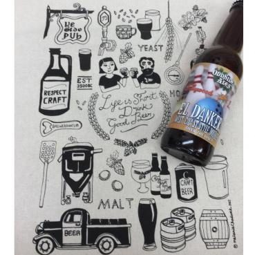 Respect Craft Beer Collage Bar Towel